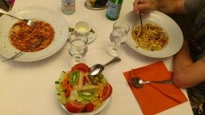 Gluten free pastas at La Casa Del Parmigiano