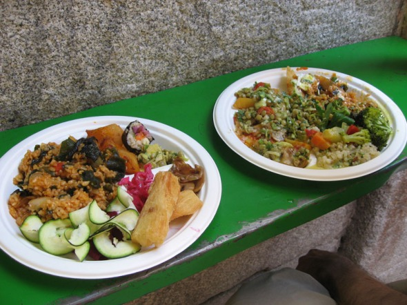 Vegetarian buffet feast in central Madrid with good gluten free knowledge/options