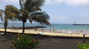 Playa Cucharas in Costa Teguise - one of five beaches there